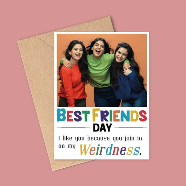 Privy Express Quirky Best Friends Day Photo Personalized Greeting Card Friendship Day Card Ideas