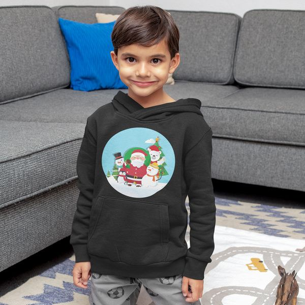 Privy Express Santa with Snowmen Christmas Hoodie 13th Birthday Gifts