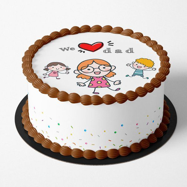 CakeZone We Love You Dad Cake Eggless Cakes