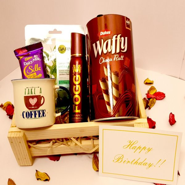 Hoods & Bonds Whole Day Surprise - Birthday Gift Hamper for Her with Special Message Card Pre Birthday Gifts